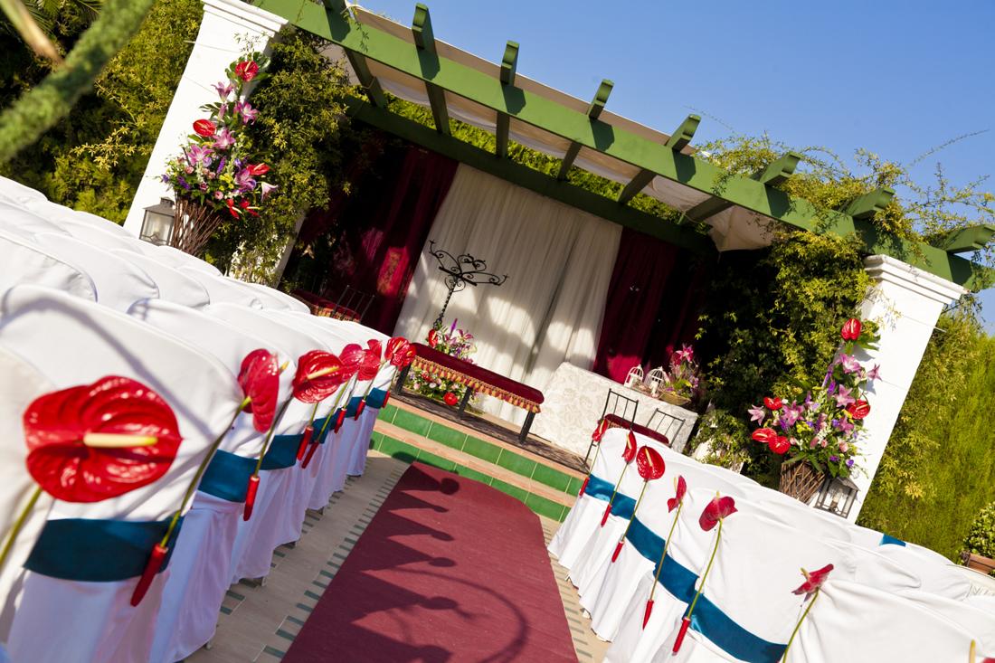 Jardines de la Hacienda de La Andrada para celebrar bodas civiles