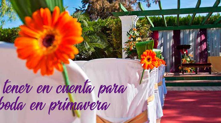 Las bodas en primavera ¿qué tener en cuenta?