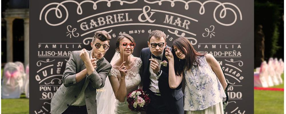 Los mejores photocalls para fotos divertidas de tu boda