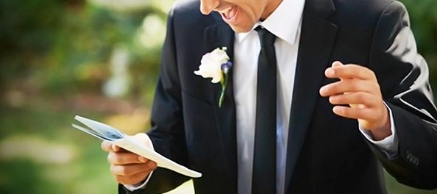 Cómo escribir un buen discurso de boda aunque no seas escritor